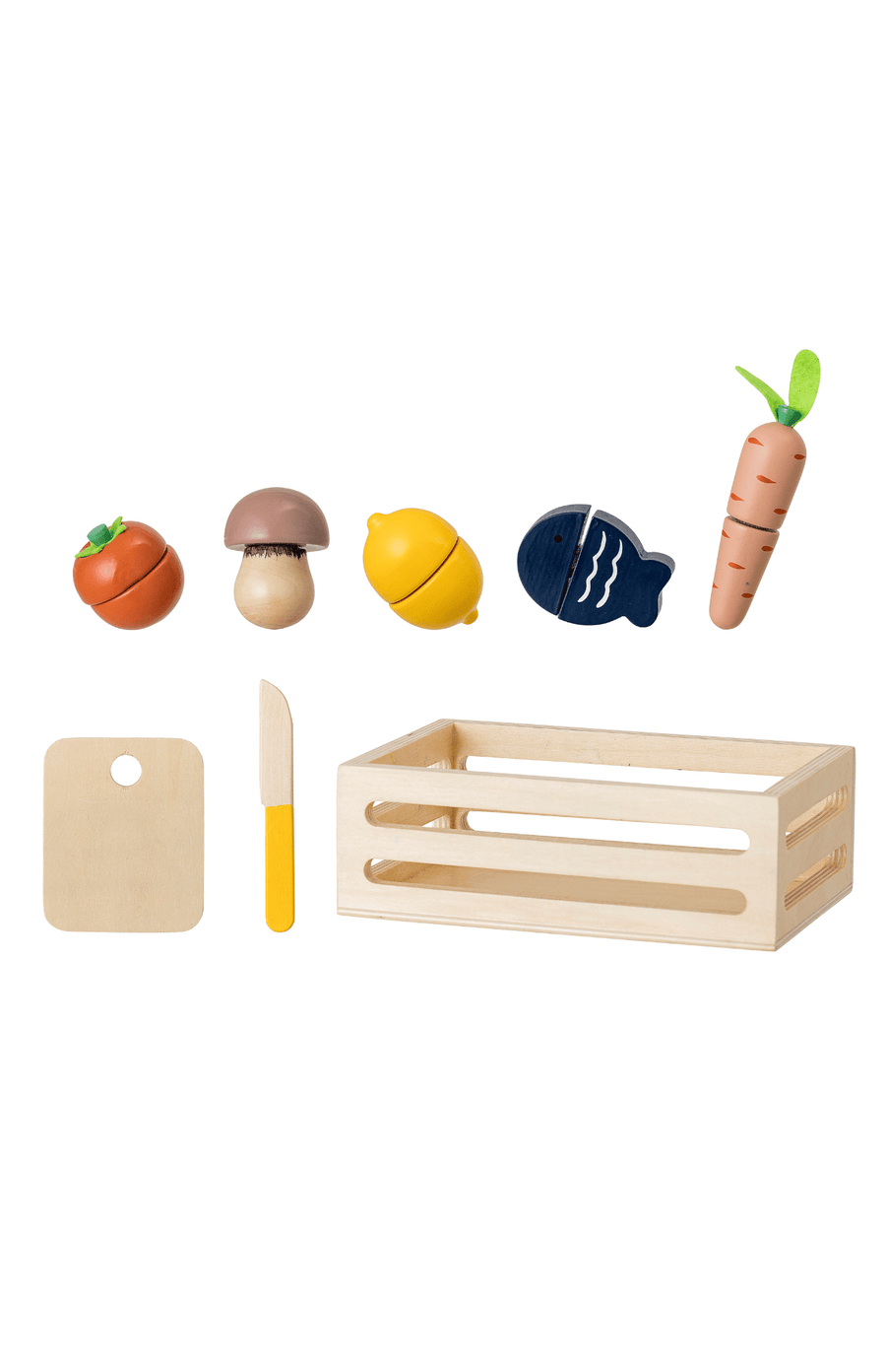 Bloomingville Wooden Chopping Food In Crate