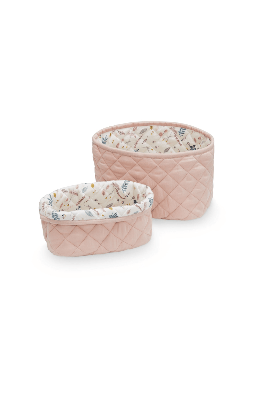 Cam Cam Copenhagen Quilted Storage Basket Set of 2 - Blossom PInk