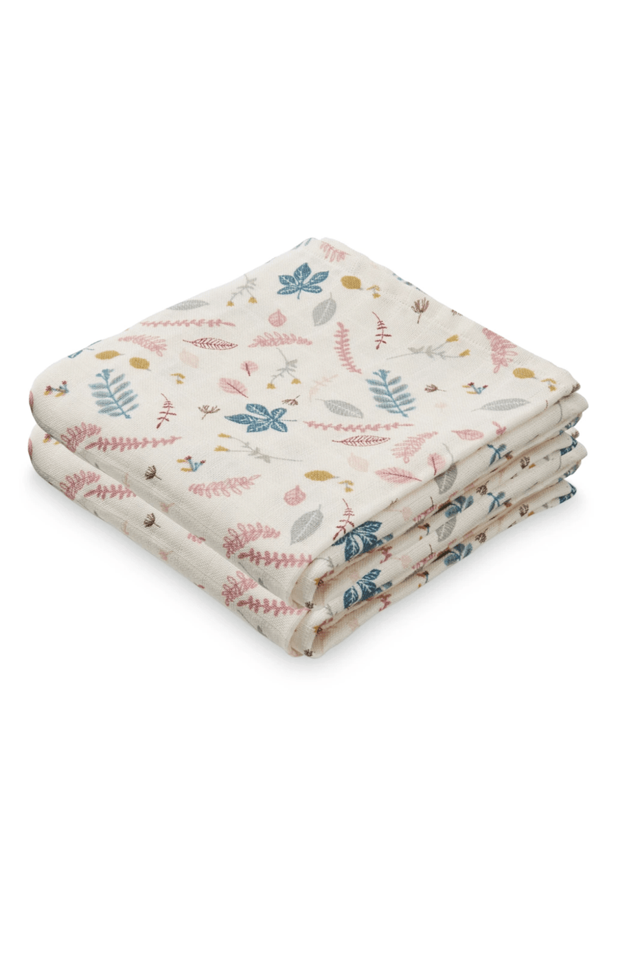 Cam Cam Copenhagen 2 Pack of Muslins - Pressed Leaves Rose