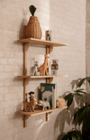 ferm LIVING Sector Narrow Triple Shelf - Oak/Brass