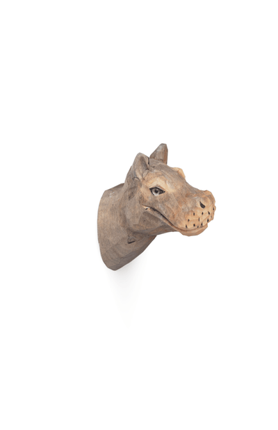 ferm LIVING Hand Carved Animal Hook - Hippo
