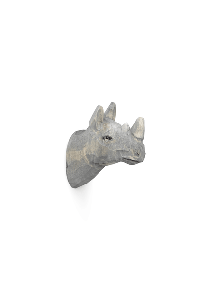 ferm LIVING Hand Carved Animal Hook - Rhino