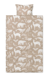 ferm LIVING Katie Scott Animal Duvet and Pillowcase Set - Sand