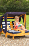 KidKraft Double Chaise Lounge - Navy
