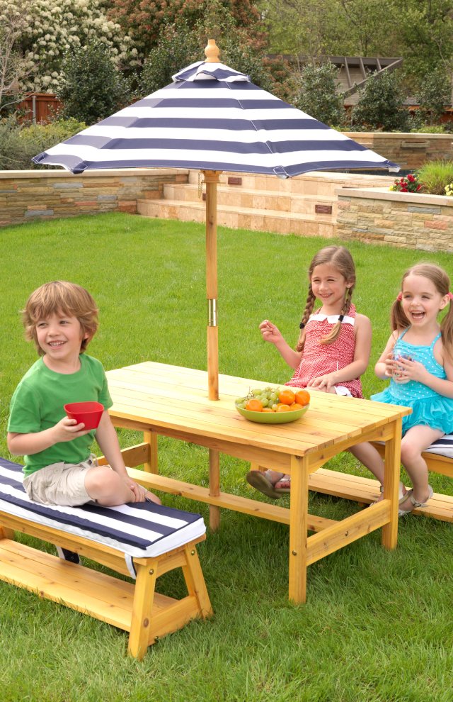 KidKraft Table & Bench Set - Navy