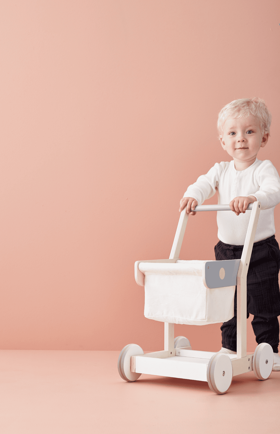 Kids Concept Shopping Trolley - Wood
