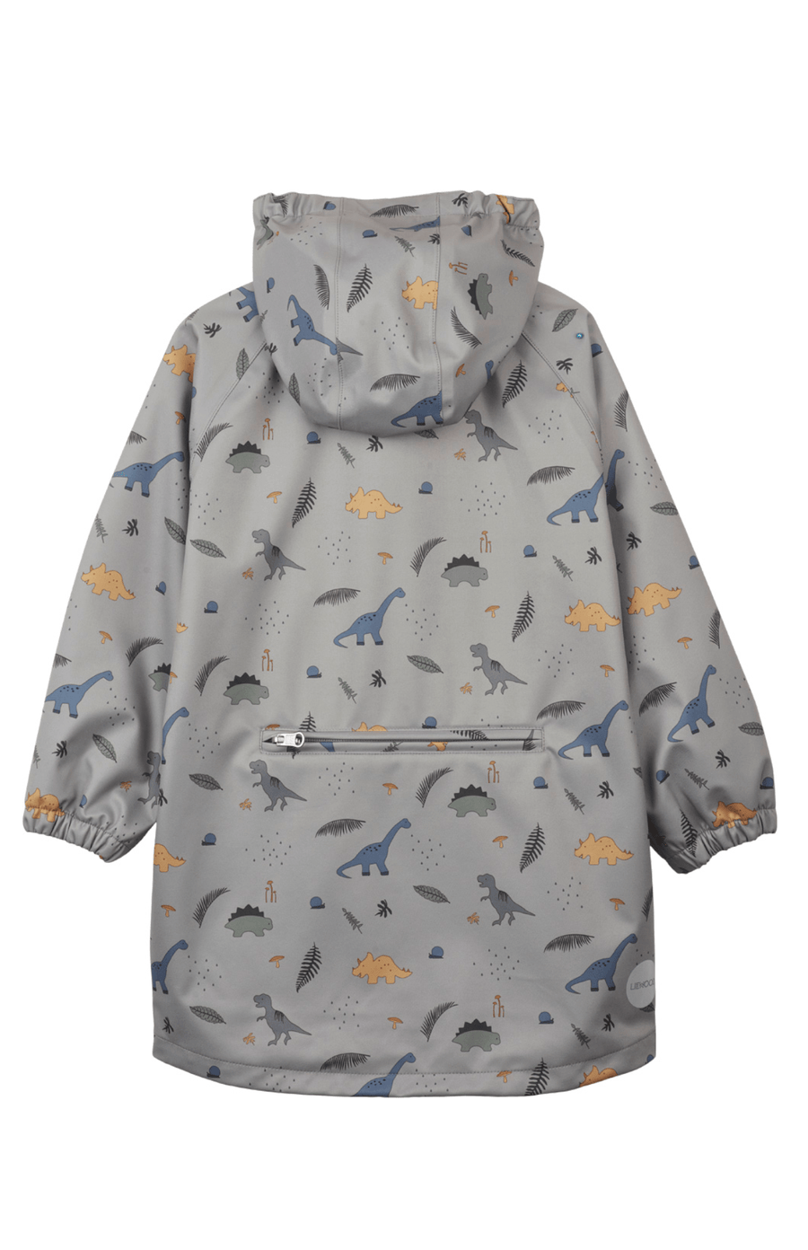Liewood Spencer Long Raincoat - Dino Dove Blue
