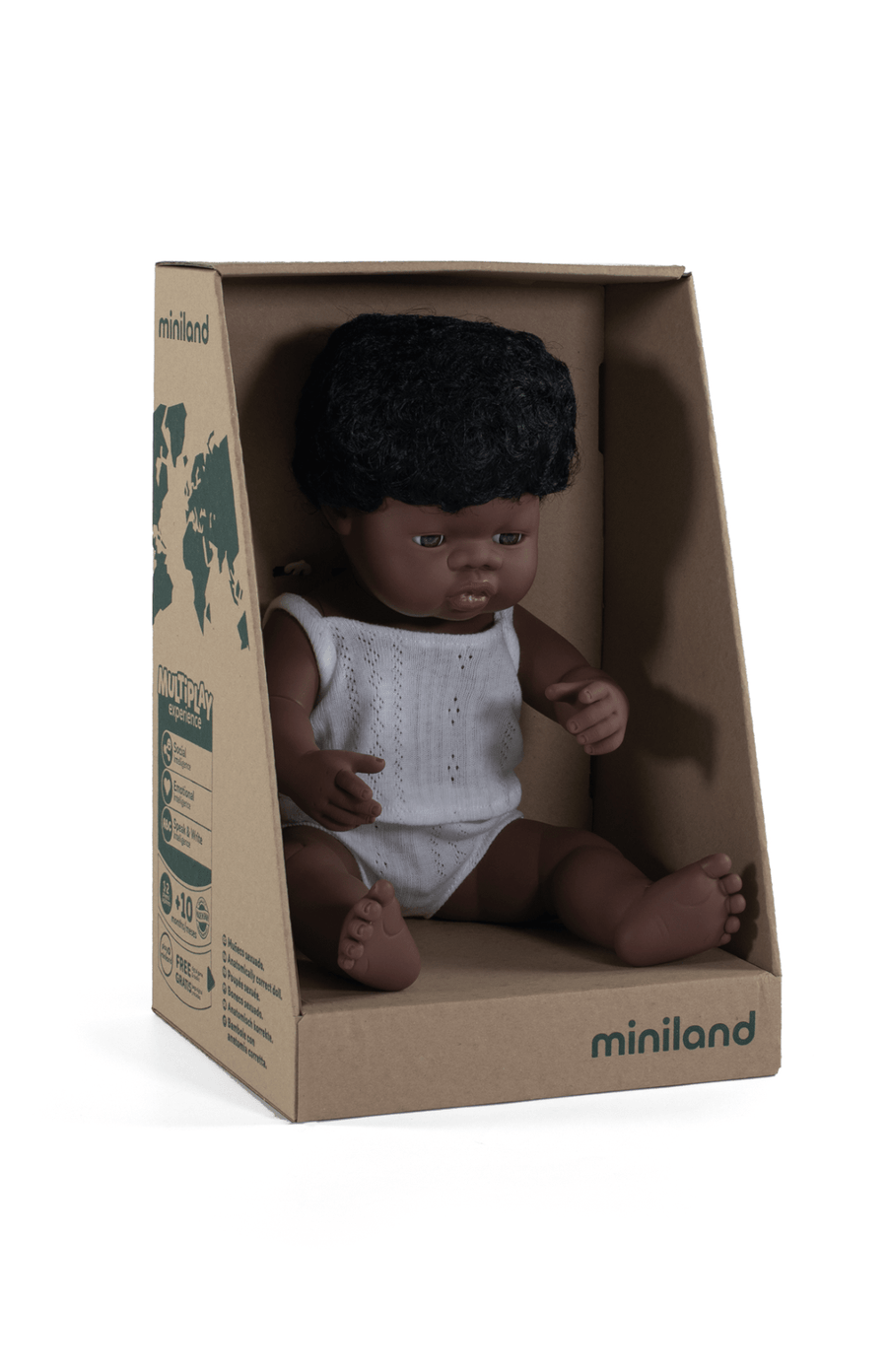Miniland Toddler Doll 38cm Boy - A