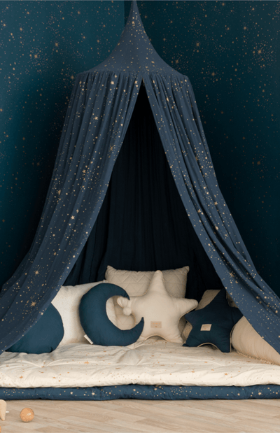 Nobodinoz Amour Canopy - Gold Stella/Night Blue