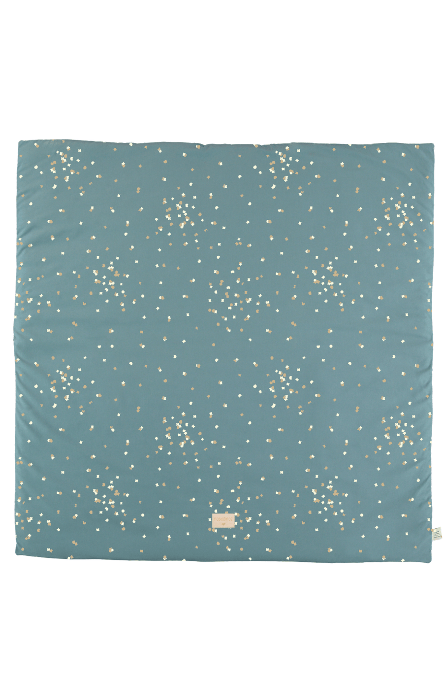 Nobodinoz Colorado Square Playmat - Gold Confetti/Magic Green