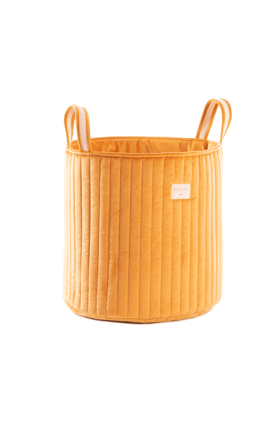 Nobodinoz Savanna Velvet Toy Bag - Farniente Yellow