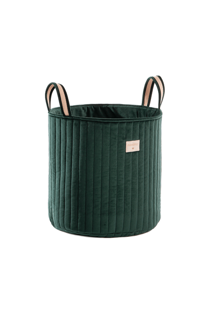 Nobodinoz Savanna Velvet Toy Bag - Jungle Green