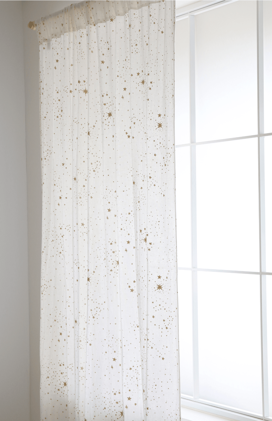 Nobodinoz Utopia Curtain - Gold Stella White