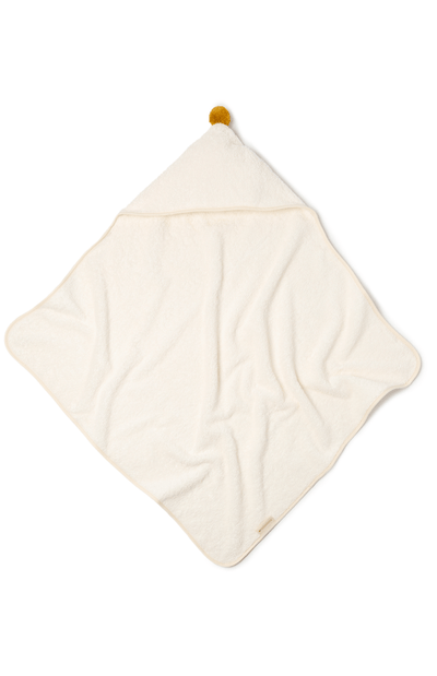 Nobodinoz So Cute Baby Bath Cape - Natural