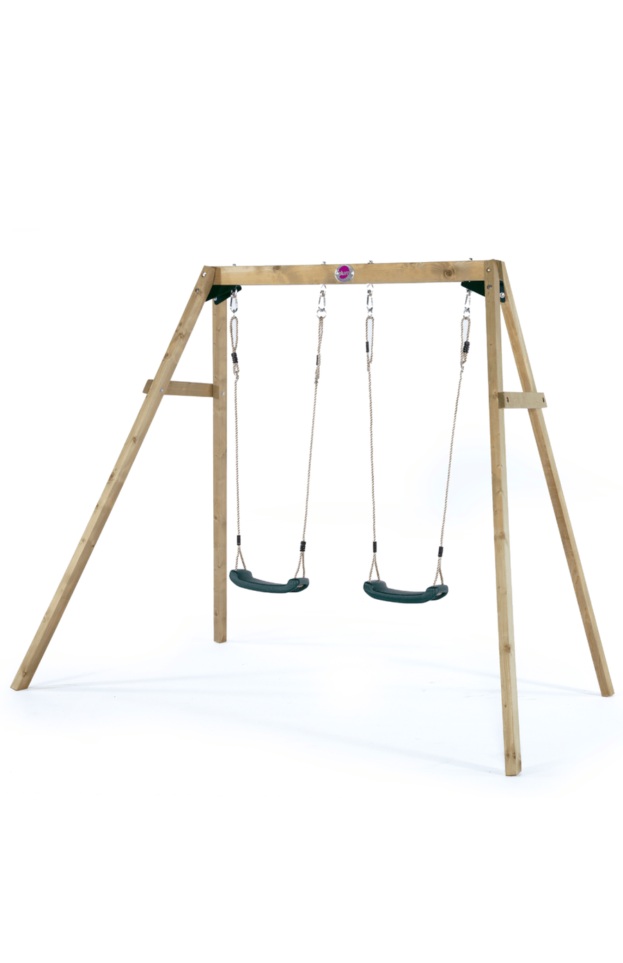 Plum® Wooden Double Swing Set