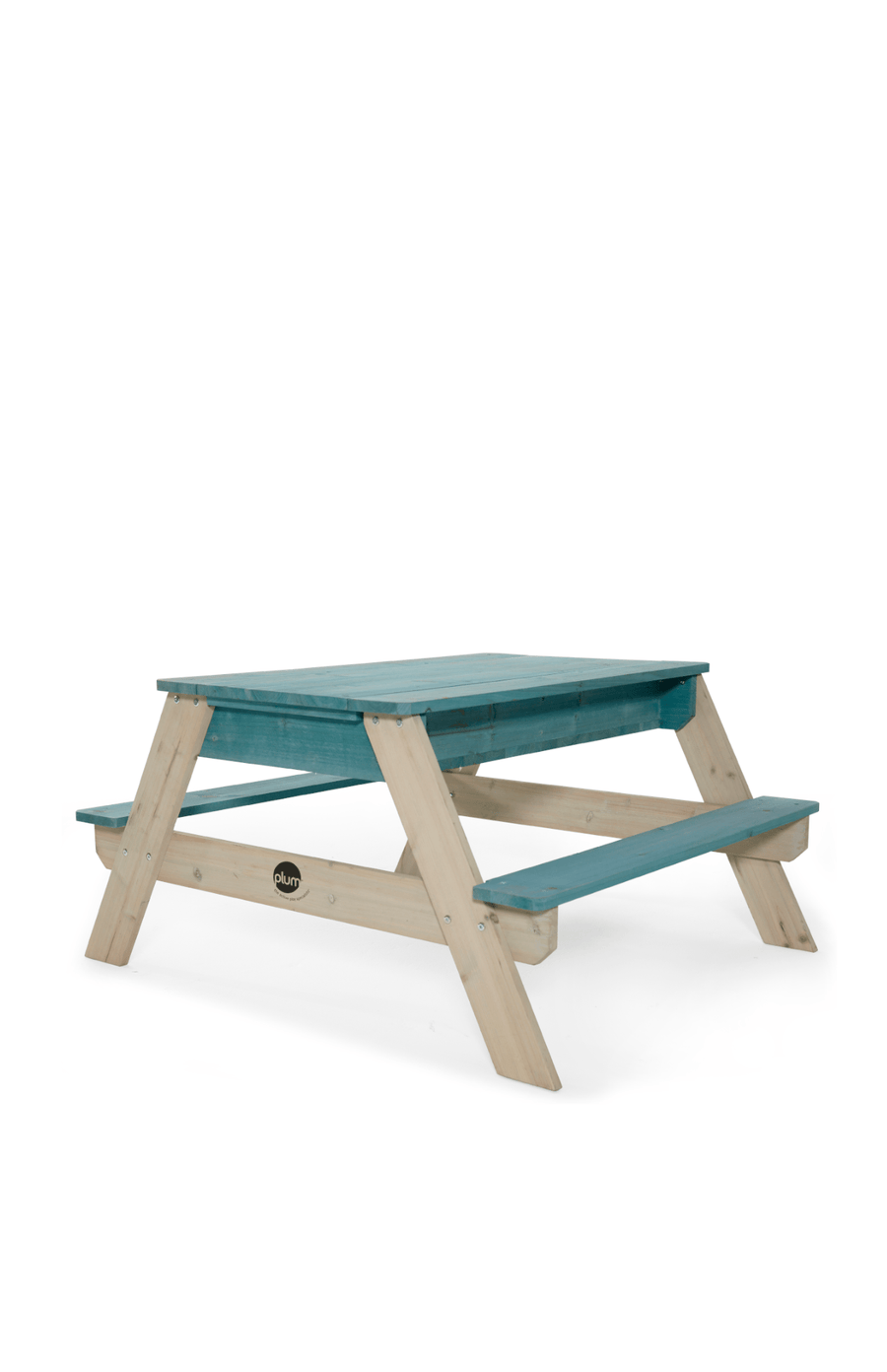 Plum® Wooden Sand Pit & Bench - Teal