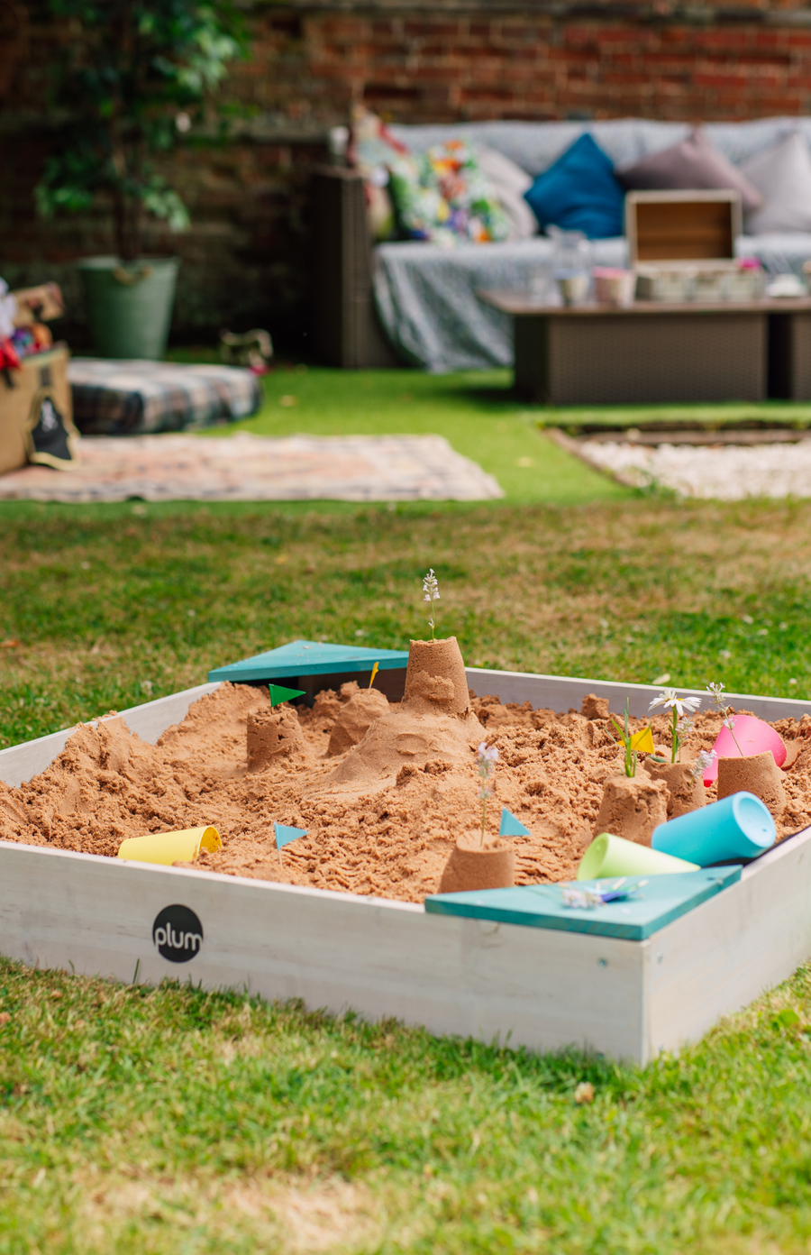 Plum® Junior Wooden Sand Pit - Teal
