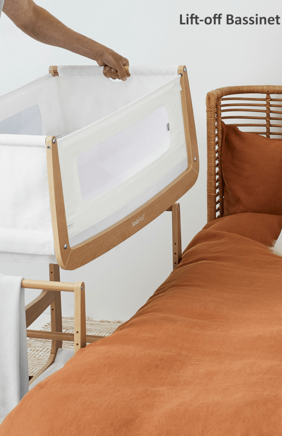 SnuzPod4 Bedside Crib 3 in 1 - Natural