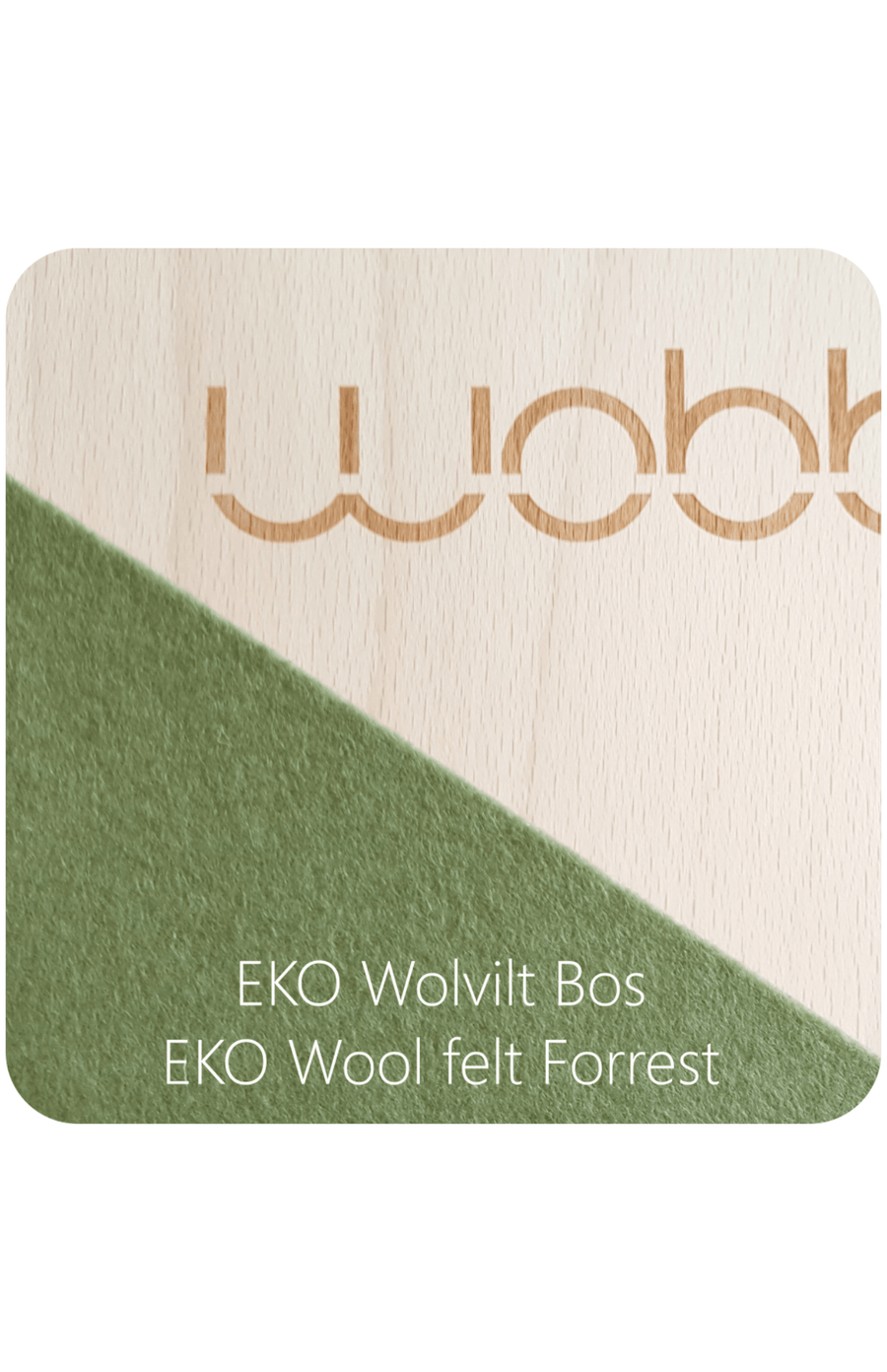 Wobbel Pro Transparent Lacquer With Felt - Forest
