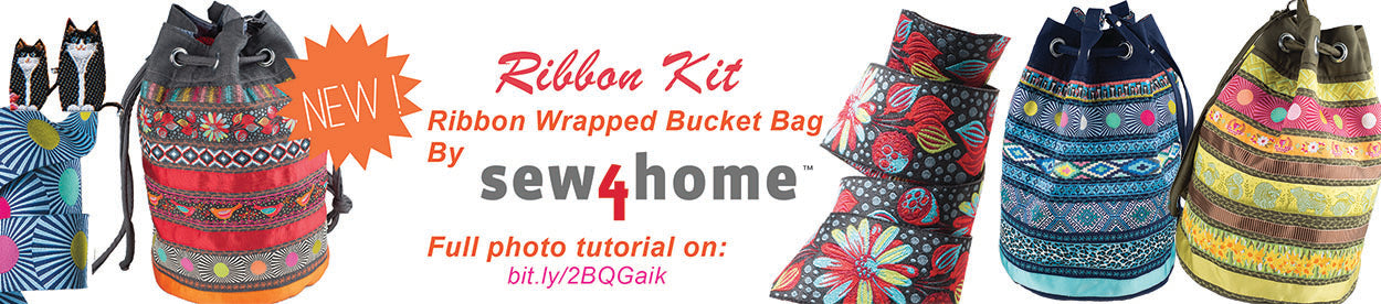 NOW available - new color combos for Bucket Bag Ribbon Kits!