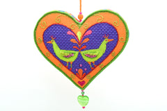 Needlepoint Ornament finished with ribbon by Zecca