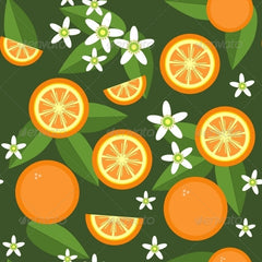 Orange Fruit Ribbon Designs