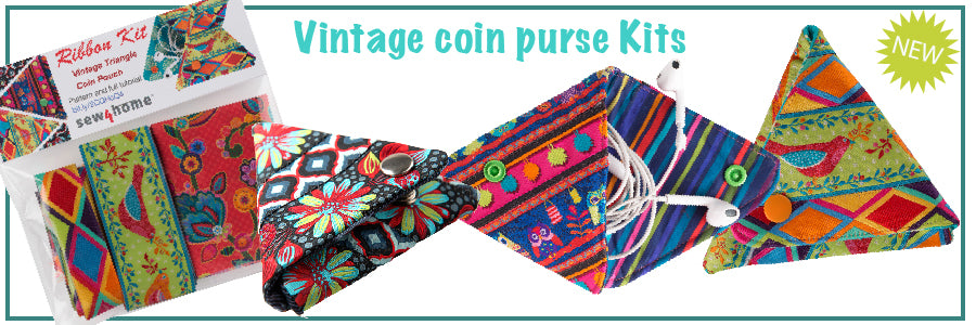Vintage Triangle Coin Pouch: Renaissance Ribbons and Sew4Home