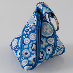 Zip-itself Ribbon Coin Purse tutorial- also called Tetrahedron Ribbon Coin Purse