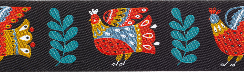 Dinara Mirtalipova New woven jacquard Ribbon  Folk Birds