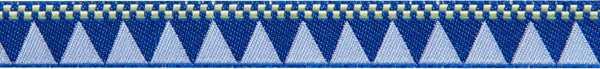 "blue triangles and checkerboard 7/8""woven jacquard ribbon"