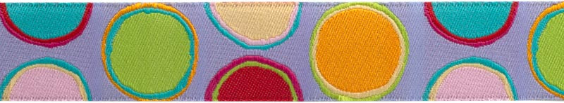 Ribbon design by Kaffe Fassett, inspired by the Fabric Collection Artisan for Free Spirit Fabrics Best ribbon Suppliers Ribbons by the yard Jacquard Ribbon