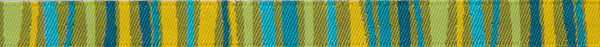 "Green Fanciful stripes 3/8"" by Odile Bailloeul"