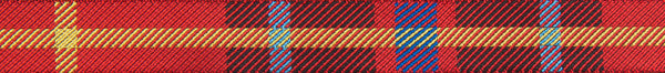 "Red woven Plaid  5/8"" wide woven jacquard ribbon"