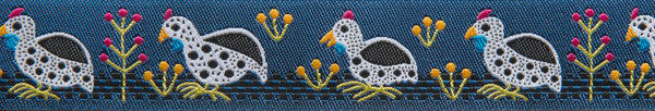 "Blue Guinea Fowl 7/8"" - Folk Tails by Sue Spargo"
