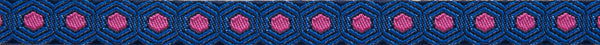 "Tiny Pink Tortoise on Dark Blue 3/8""  by Tula Pink"