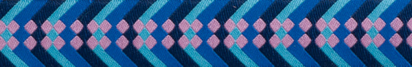 "Blue and Pink Waterfall Ribbon Design from ""Violette"" collection by Amy Butler - 100% Polyester"