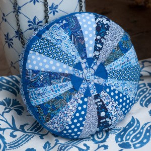 Kaffe Fassett Blue Paperweight Ribbon &Liberty Print