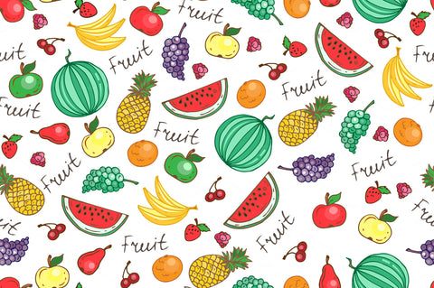 fruit pattern ribbons