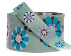 Jade & Aqua Flower Power Ribbon