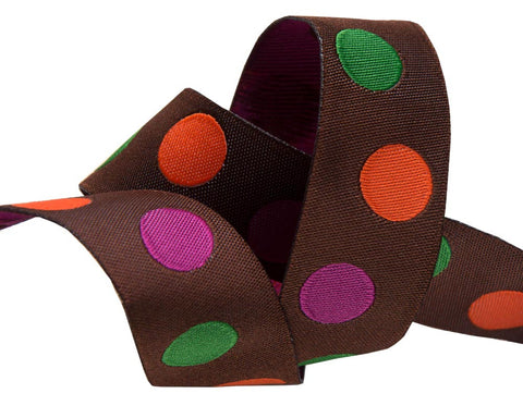 "Polka Dot 7/8"" Fall colors"