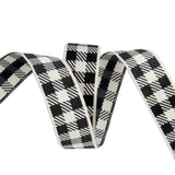 Gingham Ivory and Black-7/8""