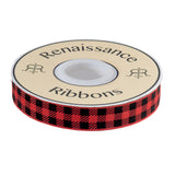 Pre-Order: Gingham Red and Black-7/8""