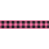 Gingham Pink Bubblegum and Black-7/8""