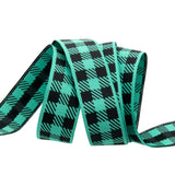 Gingham Mint and Black-7/8""