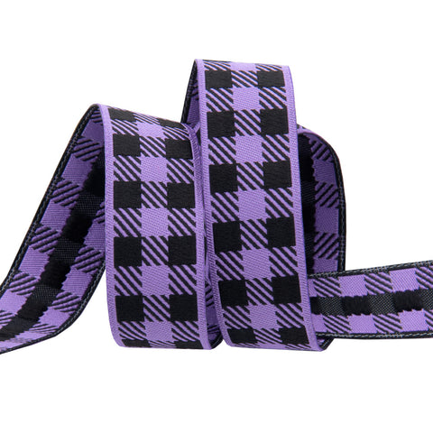 Pre-Order! Gingham Purple and Black-7/8""