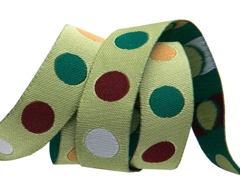 "Polka Dot 5/8"" green"