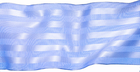 Satin Stripe Blue French Wired Ribbon