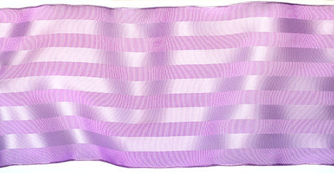 Satin Stripe Trim Wired Ribbon