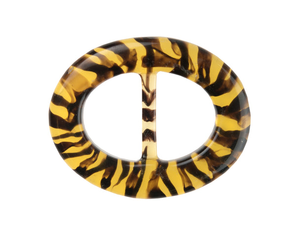 Striped Tortoise Lucite Belt Buckle - 6 buckle pack