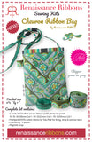 Kit Chevron Ribbon Bag: Chipper Green on grey